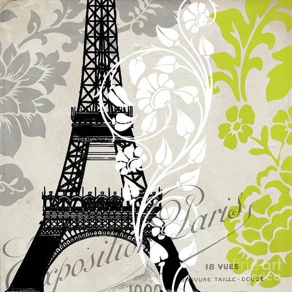 Retro Paris Painting - Paris Exposition by Mindy Sommers