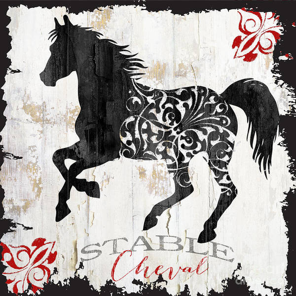 Wall Art - Painting - Paris Farm Sign Horse by Mindy Sommers