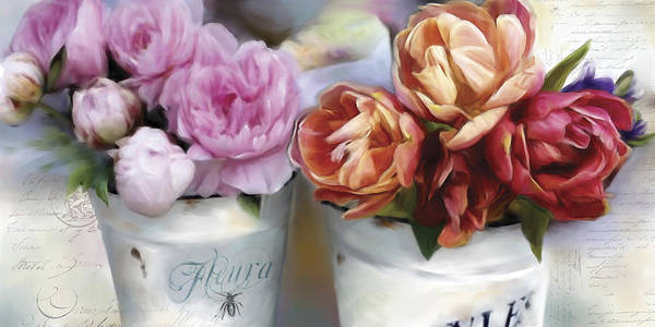 Wall Art - Painting - Paris Flower Market by Carol Robinson