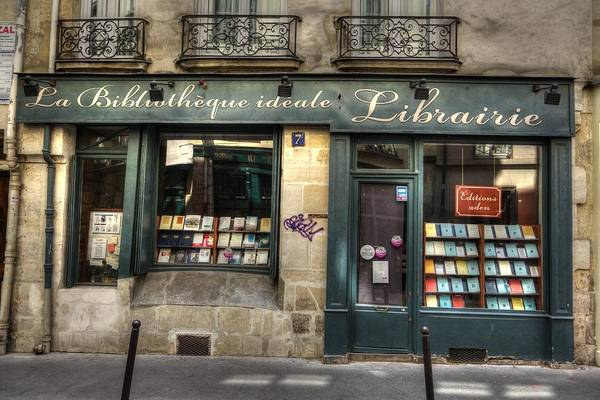 Photograph - Paris France Book Store Library by Toby McGuire