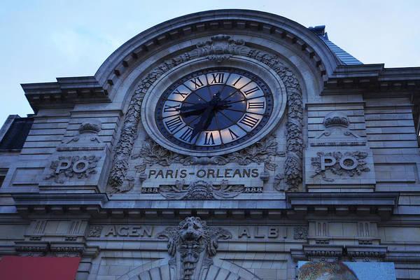 Photograph - Paris France Orleans Train Station Clock by Toby McGuire