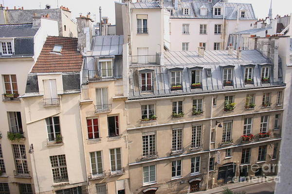 Photograph - Paris From A Balcony by Angela Rath