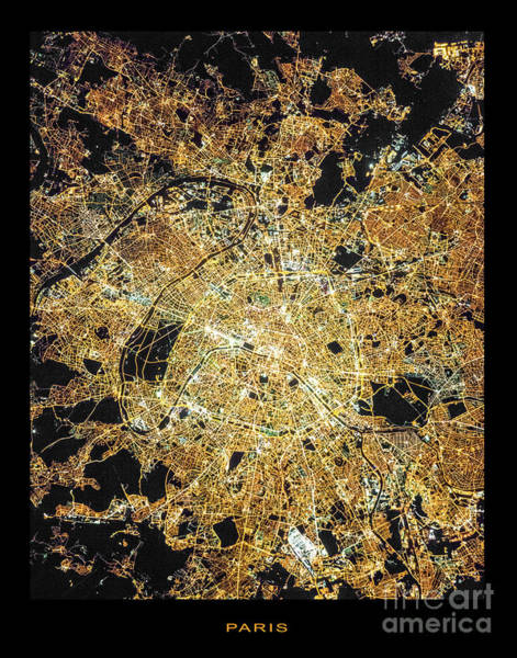 Wall Art - Photograph - Paris From Space by Delphimages Photo Creations