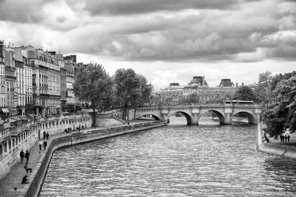 Photograph - Paris In Black And White by Gigi Ebert