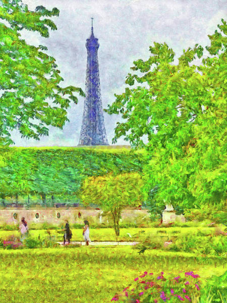 Digital Art - Paris In June by Digital Photographic Arts