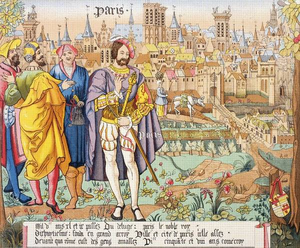 Wall Art - Drawing - Paris In The 15th Century. After A by Vintage Design Pics