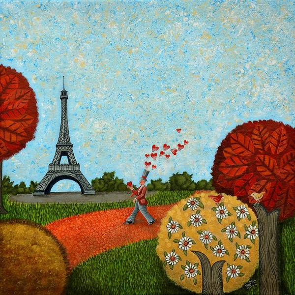 Print On Demand Wall Art - Painting - Paris Je T Aime by Graciela Bello