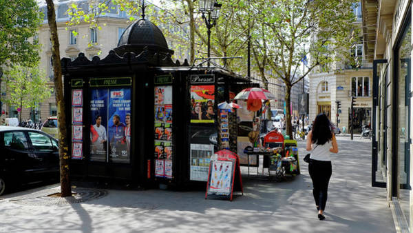 Photograph - Paris Kiosk by August Timmermans