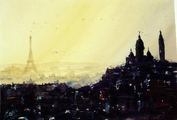 Wall Art - Painting - Paris, Layered by James Nyika
