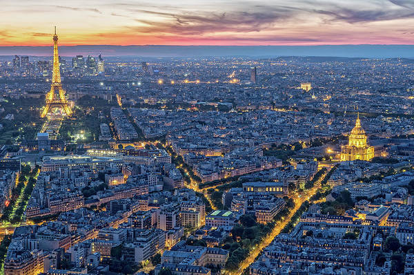 Photograph - Paris Lights From Tour Montparnasse by Gary Karlsen
