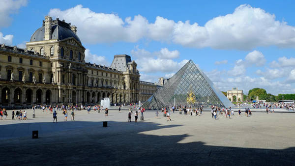 Photograph - Paris Louvre And Pyramid by August Timmermans