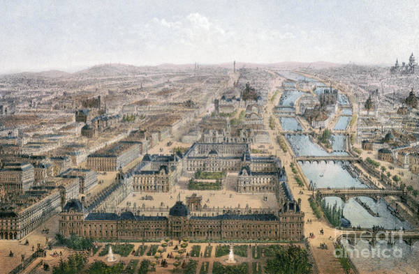 Drawing - Paris, Louvre And Tuileries by Granger