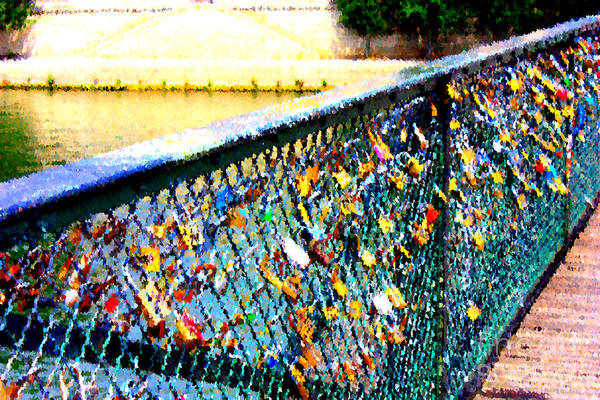 Photograph - Paris Love Locks Creative by Carol Groenen