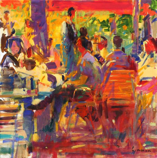 Dining Al Fresco Painting - Paris Match by Peter Graham