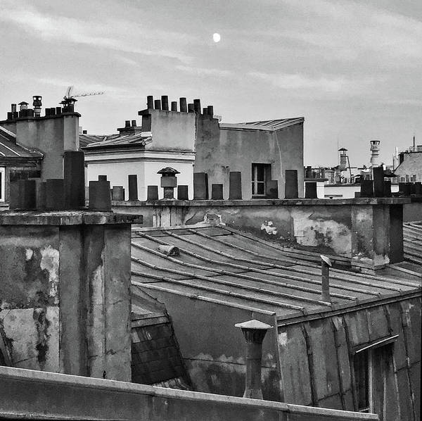 Photograph - Paris Moon And Rooftops by Frank DiMarco