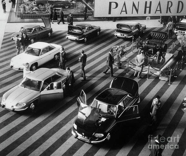 Auto Show Photograph - Paris Motor Show October 7, 1967 by French School