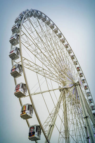 Uefa Wall Art - Photograph - Paris Observation Wheel by Joan Carroll