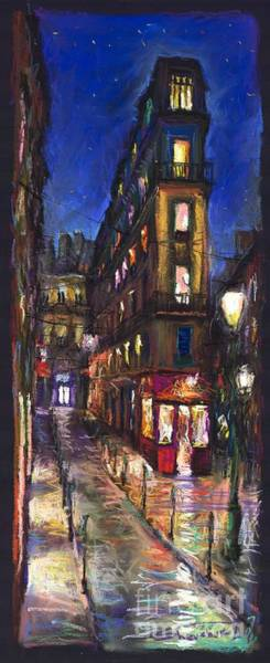 Wall Art - Painting - Paris Old Street by Yuriy Shevchuk