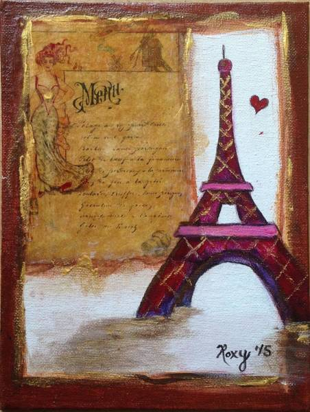 City Painting - Paris On My Menu by Roxy Rich