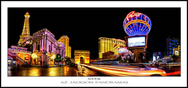 Time Exposure Wall Art - Photograph - Paris On The Strip Poster Print by Az Jackson