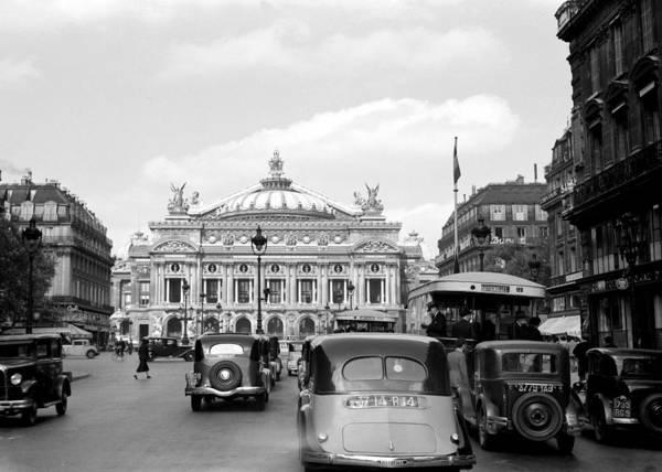 Photograph - Paris Opera 1935 by Andrew Fare
