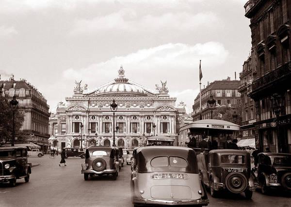 Photograph - Paris Opera 1935 Sepia by Andrew Fare