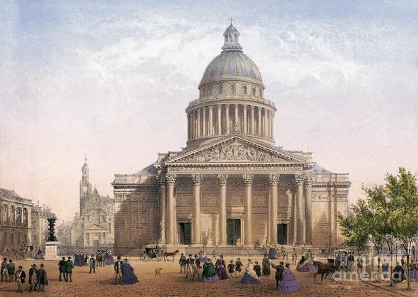 Drawing - Paris, Pantheon, C1875 by Granger