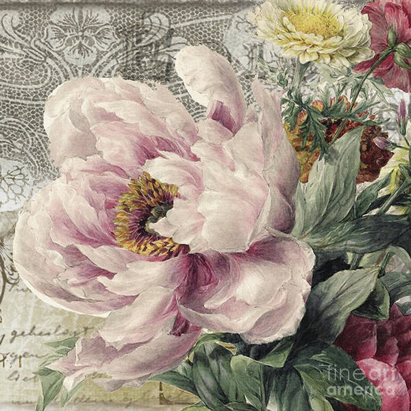 Wall Art - Painting - Paris Peony by Mindy Sommers
