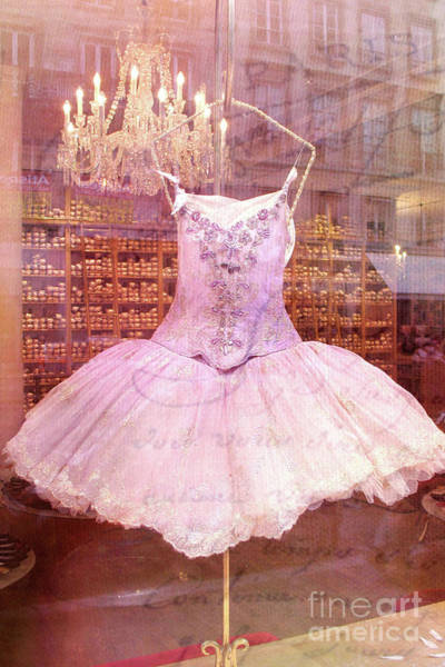 Wall Art - Photograph - Paris Pink Ballerina Tutu - Paris Repetto Ballet Costume Ballerina Fashion  by Kathy Fornal