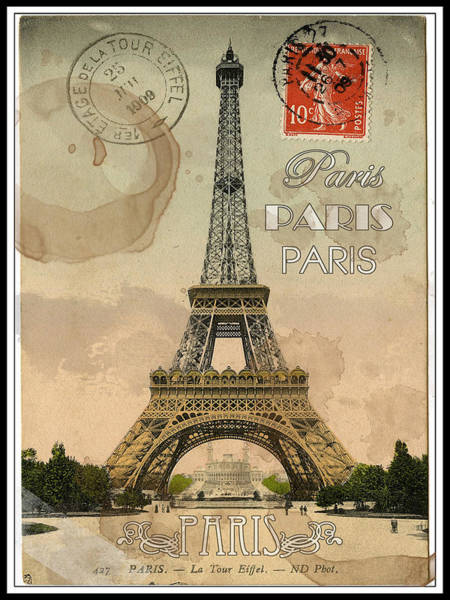 Painting - Paris Postcard by Sean Parnell