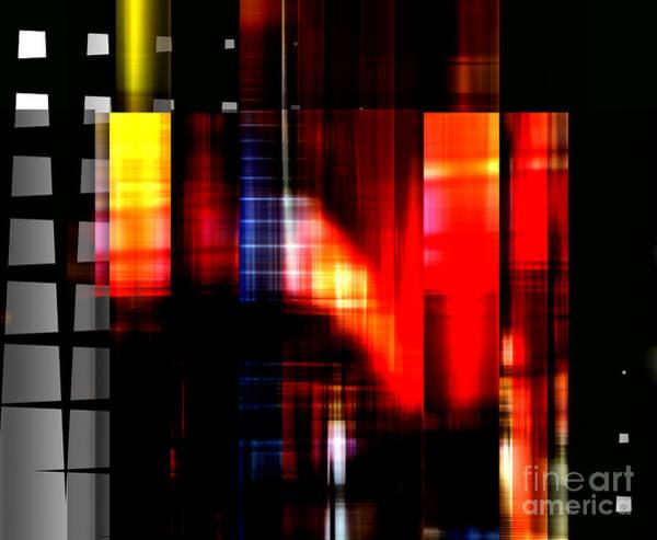 Digital Art - Paris Red Light by John Rizzuto