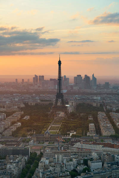 Photograph - Paris Rooftop by Songquan Deng