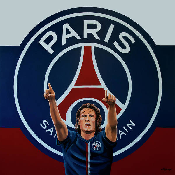 Football Players Wall Art - Painting - Paris Saint Germain Painting by Paul Meijering