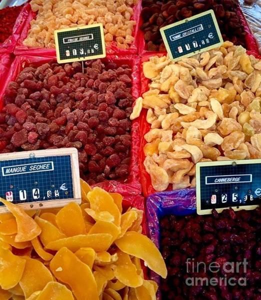 Photograph - Paris Saturday Market Dried Fruits by Susan Hendrich