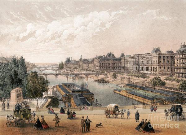Drawing - Paris, Seine, C1875.  by Granger