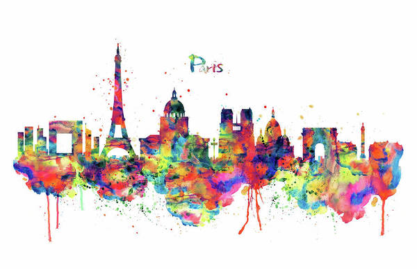 Notre Dame Painting - Paris Skyline 2 by Marian Voicu