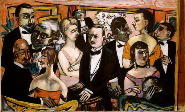 Wall Art - Painting - Paris Society by Max Beckmann
