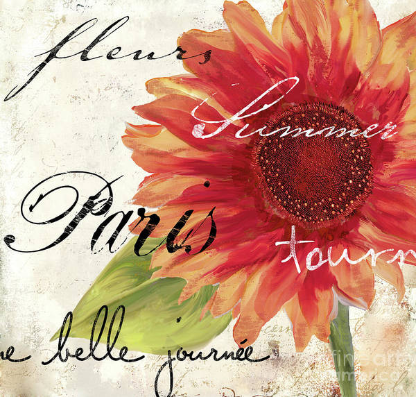 Gerbera Painting - Paris Songs II by Mindy Sommers