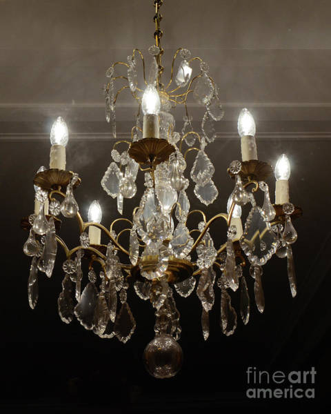 Wall Art - Photograph - Paris Sparkling Crystal Chandelier - French Chandelier Decor - Parisian Chandelier by Kathy Fornal