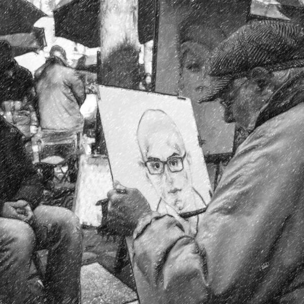 Painting - Paris Street Artist Par856722 by Dean Wittle