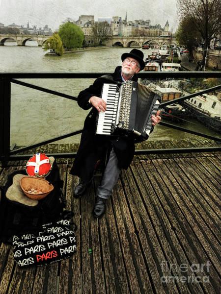 Photograph - Paris Street Musician by Elena Nosyreva