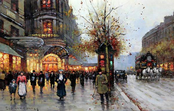 Painting - Paris Street Scene by Edouard Cortes
