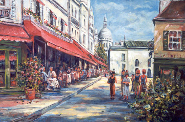 Painting - Paris Street Scene by Ingrid Dohm