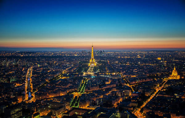 Photograph - Paris Sunset by Ryan Wyckoff