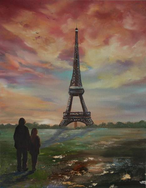 Wall Art - Painting - Paris The City Of Love And Romance by Jean Walker