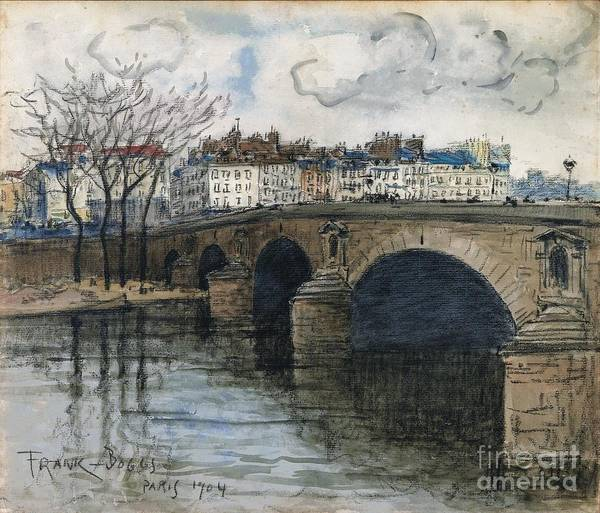 Wall Art - Painting - Paris The Pont Marie by Celestial Images