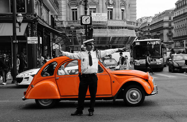 Photograph - Paris Traffic Cop 2 by Andrew Fare