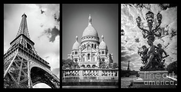 Wall Art - Photograph - Paris Triptych by Delphimages Photo Creations