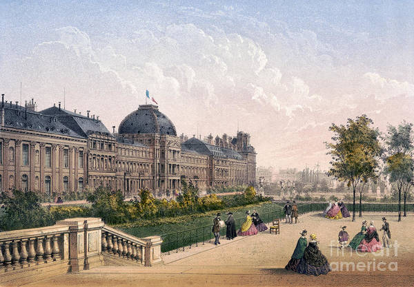 Drawing - Paris, Tuileries, C1875 by Granger