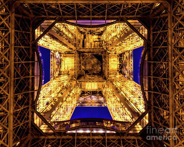 Wall Art - Photograph - Paris Under The Tower by Perry Webster